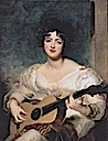 1825 Lady Wallscourt playing music by Sir Thomas Lawrence (auctioned by Christie's)
