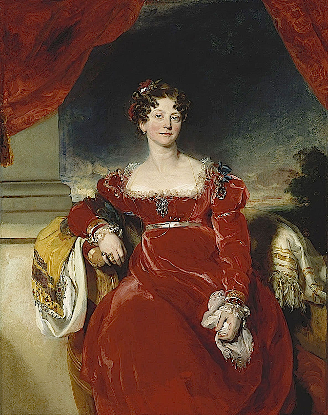 1825 Princess Sophia by Sir Thomas Lawrence (Royal Collection) Wm
