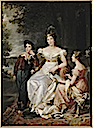1825 Zoe Talon Countess of Cayla with her children by Baron François Pascal Simon Gérard (Versailles)