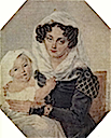 1826 M. N. Volkonskaya and son Nicholas by Petr Feodorovich Sokolov (location unknown to gogm)