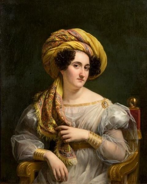 1827 Joséphine Louise Hortense Soult, épouse Mornay by Louis Hersent (auctioned by Alain R. Truong) From Truong Web site
