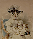 1827 Archduchess Henriette and her daughter by Ignaz Rungaldier (Museo Nacional del Romanticismo - Madrid Spain)