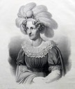 1829  Maria Theresa of Austria (1767–1827), Queen of Saxony lithograph by C. Nogel Wm X 1.5