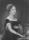1829 (Jan. issue) Her Grace, Charlotte Florentia, Duchess of Northumberland, Stipple engraving by T.A.Dean after Mrs Robertson Published by Whittacker & Co. in La Belle Assemblee Wm X 1.5