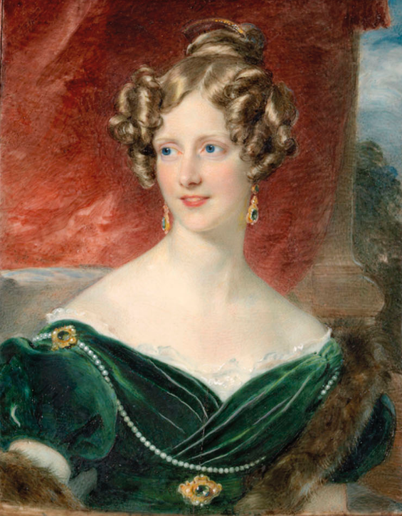 1830 Anne Cust, Lady Middleton by Charles Ross (upcoming Christie's auction) From the Christie's Web site