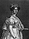 Therese von Sachsen-Hildburghausen engraving by Carl Barth after Stieler