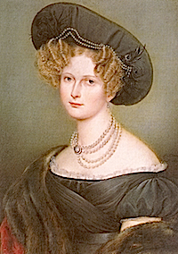 ca. 1830 Grand Duchess Elena Pavlovna by A. Gral (State Russian Museum, Saint Petersburg)