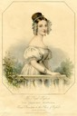 1830s (earlier) Princess Victoria standing half-length behind a balustrade From pinterest.com/jdavis0150/yv-hair/ despot