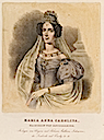 1830s Empress Maria Anna Carolina of Austria color print