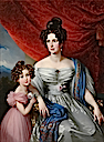 1832 Baroness Joel von Joelson with daughter by Johann Nepomuk Ender (Boris Wilnitsky)