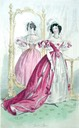 1833 english court dresses in deep rose