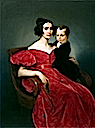 1833 Countess Teresa Zumali Marsili with Her Son Giuseppe by Francesco Hayez (location unknown to gogm)