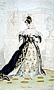 1833 english court dresses dark blue
