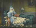 1834 Queen Julie resting on a chaise by Michel Ghislain Stapleaux (Château Fontainebleau Fontainebleau France)