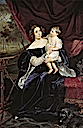 1834 Olga I. Orlova-Davydova and daughter Natalia by Karl Brullov (location unknown to gogm)