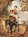 1835 Countess Olga Fersen riding a donkey by Karl Brullov (location unknown to gogm)
