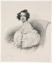 1836 Countess Althan by Josef Kriehuber lithograph (Boris Wilnitsky)