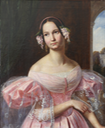 1837 Duchesse d'Orleans as a bride, nee Princess of Mecklenburg-Schwerin by ? (private collection) From Dr. Wolfgang Lorenz e-mail cropped frame