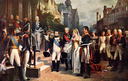 1837 Napoleon Bonaparte Receiving Queen Louisa of Prussia at Tilsit, 6th July 1807 by Nicolas Louis François Gosse (private collection)