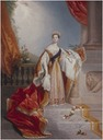 1837 Queen Victoria on the occasion of her speech at the House of Lords where she prorogated the Parliament of the United Kingdom in July 1837 (her first public appearance as the Queen) by Alfred Edward Chalon (UK Government Art Collection)