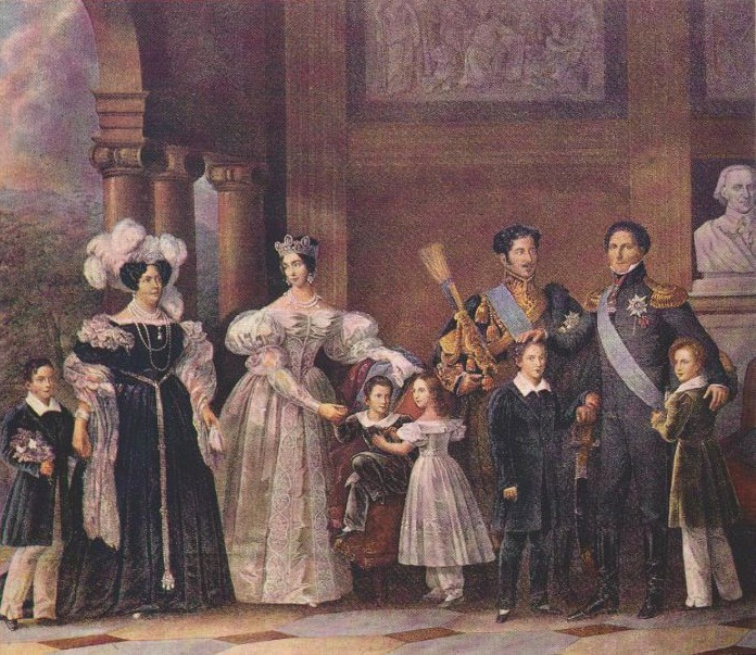 1837 The Bernadotte Family by Fredrik Westin (Gripsholm Palace, Mariefred Sweden)