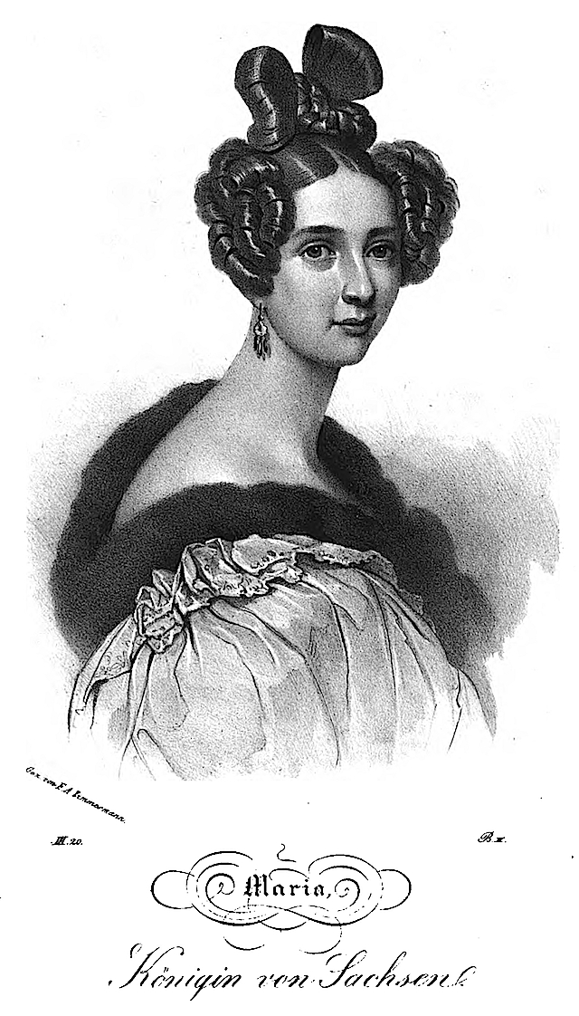 1837 Maria Anna Leopoldine, Queen of Saxony by F. A. Zimmermann