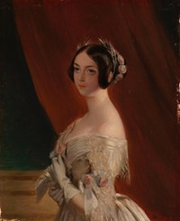 1838 Frances, Viscountess Jocelyn (1820-1880) by Robert Antoine Müller (Royal Collection, Osborne House - East Cowes, Isle of Wight, UK) From pinterest.com:andrewschroeder:1840s-art: X 1.5