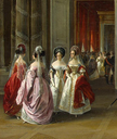 1838 Ladies from the Blazon Room of the Winter Palace by Adolphe Ladurner (State Hermitage Museum - St. Petersburg Russia)