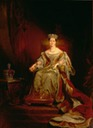 1838 Queen Victoria on the Throne by Sir George Hayter (Guildhall Art Gallery - London UK)