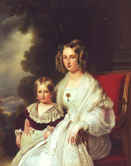 1838 Maria Louisa of Orleans Queen of Belgium and her son Leopold by Franz Xaver Winterhalter (Royal collection) from www.liveinternet.ru:users:katish_09: