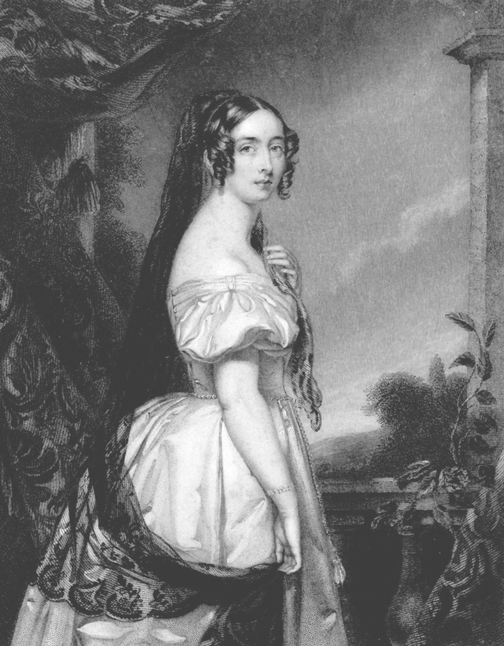 1840 Harriet (Canning), Marchioness of Clanricarde by T.W. Knight after John Lucas April's detint