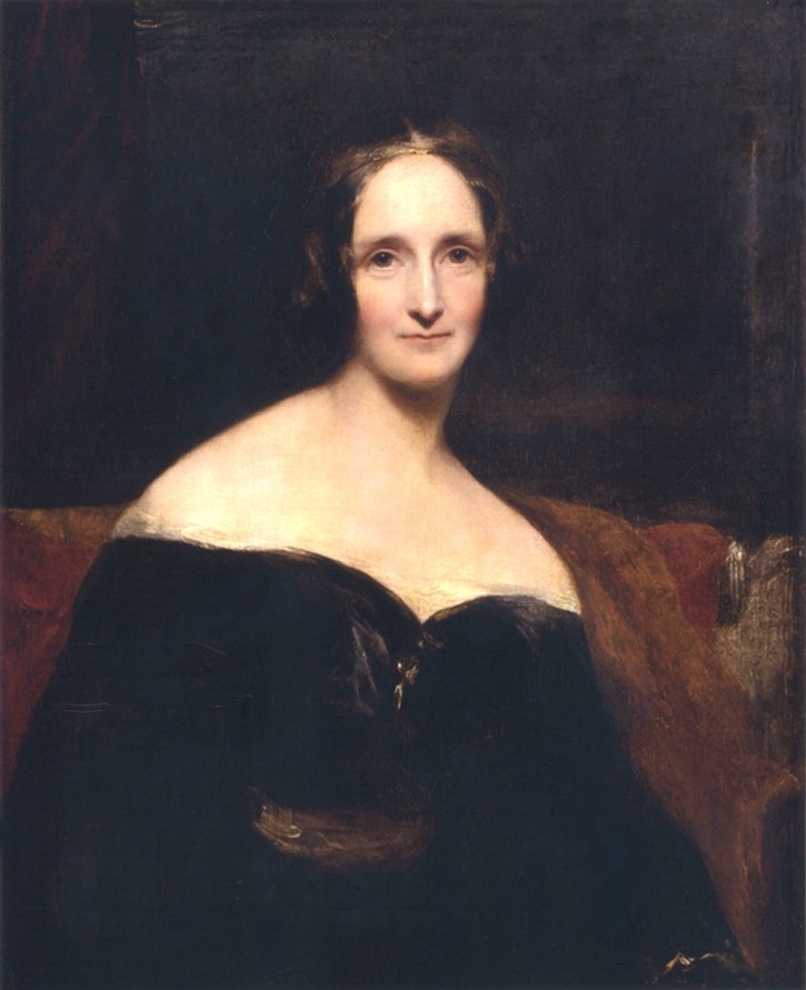 1840 Mary Shelley by Richard Rothwell (National Portrait Gallery - London, UK) Wm increased exposure