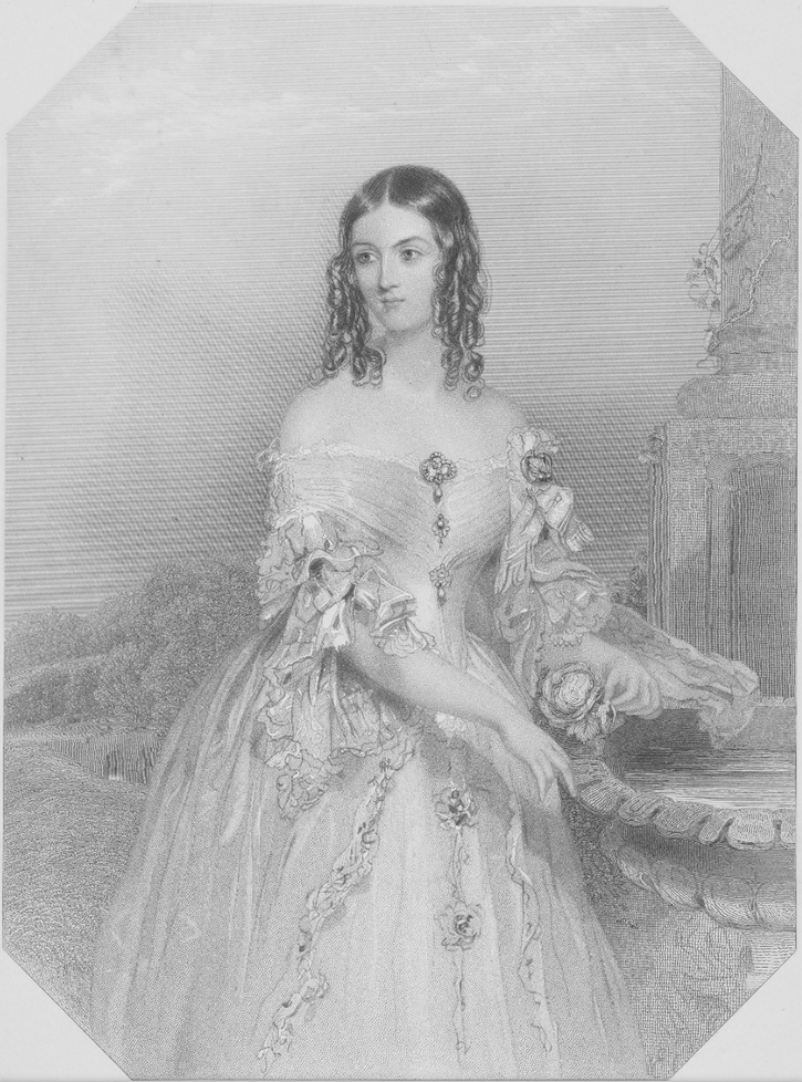 1840 (published) Caroline Amelia Gordon-Lennox, Countess of Bessborough, 1819 - 1890. 2nd wife of J.G.B. Ponsonby, 5th Earl of Bessborough by William Henry Mote (National Galleries of Scotland - Edinburgh, UK) From the museum's Web site detint