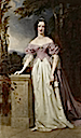 1840 Blanche Georgiana Howard (1812-40); posthumous portrait in the dress worn at the wedding of Queen Victoria and Prince Albert by John Lucas (Chatsworth House - Bakewell, Derbyshire UK)