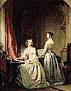 1840 Grand Princesses Olga Nikolaevna and Alexandra Nikolaevna by Christina Robertson (Hermitage)