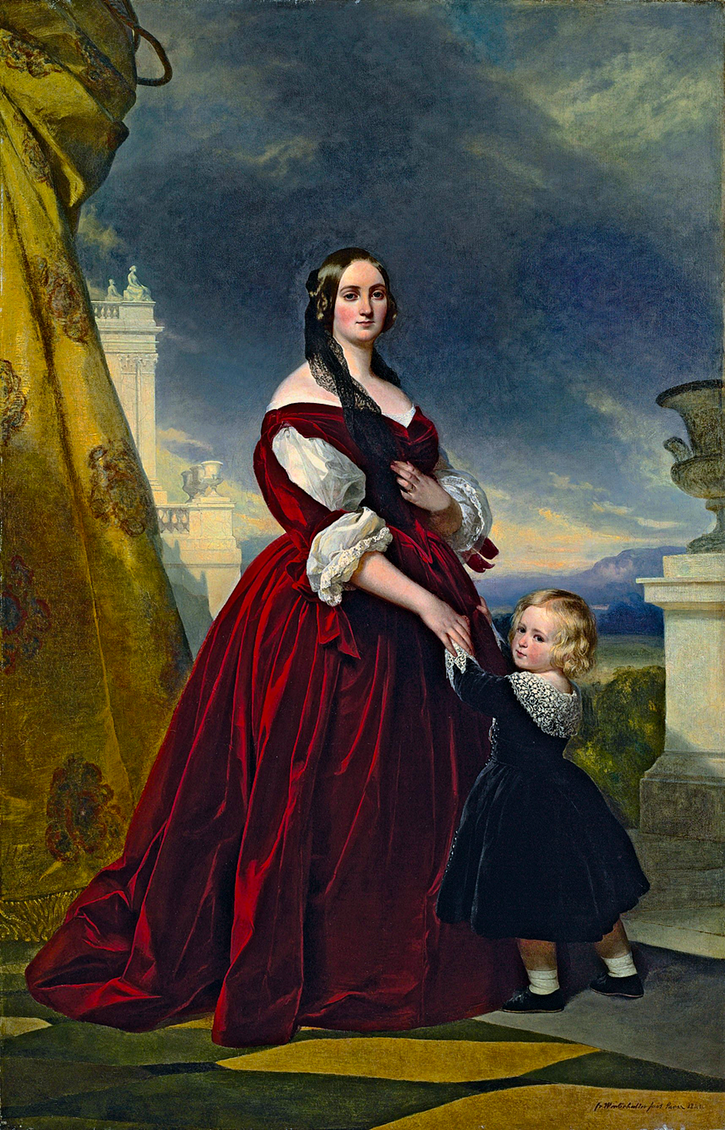 1841 Comtesse Rosalie Duchâtel (1817-1878), née Mlle Paulée, with her son by Franz Xaver Winterhalter (private collection) UPGRADE From karoline-von-manderscheid.tumblr.com:post:160000189682:franz-xaver-winterhalter-1805-1873-portrait