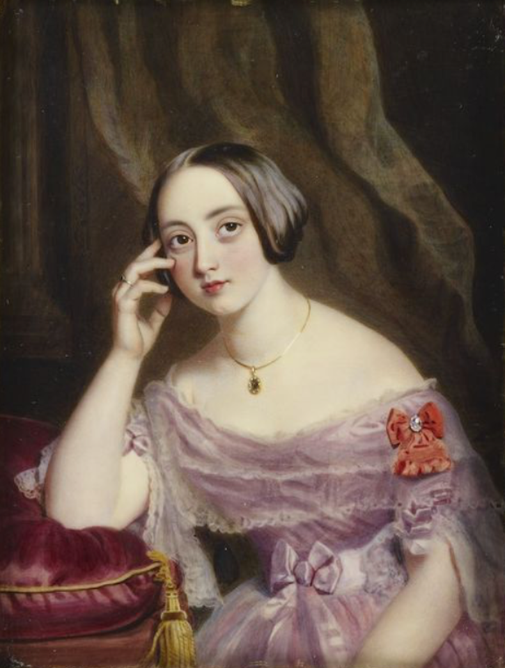 1841 Honourable Julia Henrietta Anson (1819-1866), Lady Brooke by Alfred Tidey (Royal Collection) size fixed at 40 cm high at 28.35 pixels/cm pinterest.com/msnelly1/romantic-era-dresses/.png