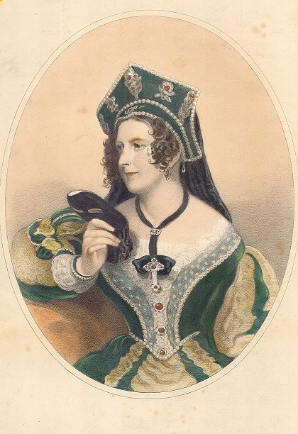 1841 Duchess of Bedford in Renaissance revival dress