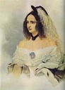 1842-1843 Natalia Pushkina by Vladimir Hau (Institute of Russian Literature (Pushkin House) - St. Petersburg, Russia)