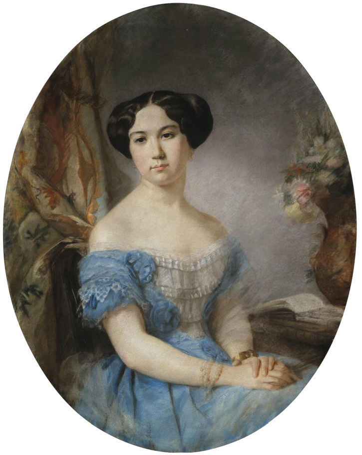 1842-1855 Irina Vorontsova-Dashkova by Hippolyte Robillard (State Hermitage Museum - St. Petersburg Russia) replacement size fixed 52.67 cm high at 28.35 pixels:cm resolution