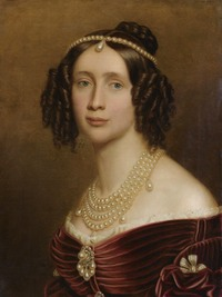 1842 Maria Anna of Bavaria, Queen of Saxony by Joseph Karl Stieler (location unknown to gogm) From the lost gallery despot deflaw throughout
