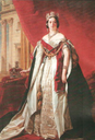 1843 Queen Victoria standing by Franz Xaver Winterhalter (Royal Collection)