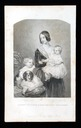 1844 Queen Victoria with children Princess Royal Victoria and Prince of Wales Albert Edward
