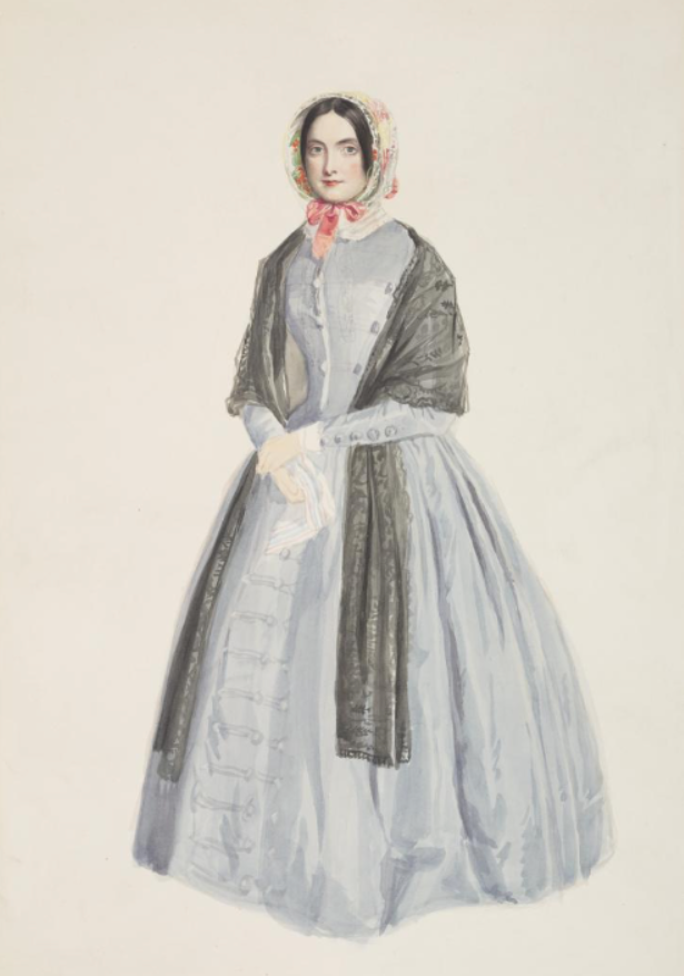 1847 Frances Elizabeth Cowper, Viscountess Jocelyn by Hope James Stewart (National Galleries of Scotland - Edinburgh, UK) From the museum's Web site