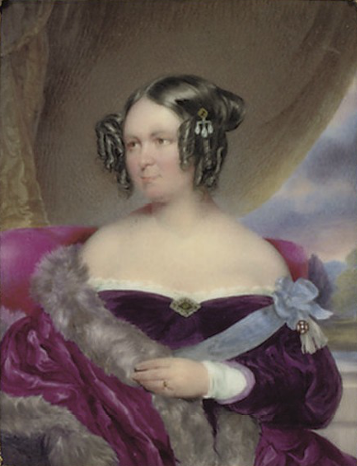 1848 (before) Baroness von Wacquant-Geozelles by Moritz Michael Daffinger (auctioned by Christie's)