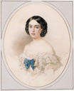 1848 Countess Olga Esperovna Shuvalova, née Princess Belosel'skii-Belozerskii by Vladimir Ivanovich Hau (auctioned by Christie's)