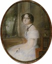 1848 Elizabeth A. Poletika (1832-1854), daughter of Idalia Poletika, in marriage Mordvinova by Emile François Dessain (location unknown to gogm)