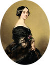 1851 Baronne Hottinguer (also called Bartholdy), née Caroline Delessert by Franz Xaver Winterhalter (auctioned by Sotheby's)