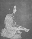 1852 Ada Lovelace at a piano painting in 1852 by Henry Phillips (location unknown to gogm)