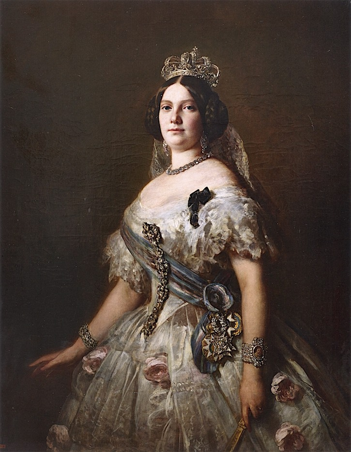 1852 Isabella II of Spain by Franz Xaver Winterhalter (Augustinermuseum - Freiburg, Baden-Württemberg, Germany) From the-athenaeum.org